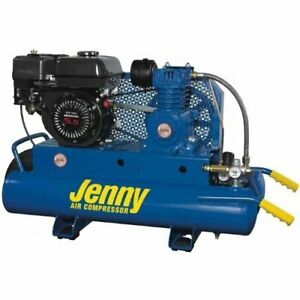 Jenny K5hga 8p 5hp 8 Gallon 1 Stage Wheeled Portable Gas Powered Air Compressor