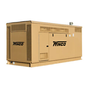 Winco Pss90 Housed Standby 80kw Lp 90kw Ng Generator 1ph Gm Liquid Cooled 5 7l