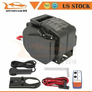 Recovery Boat Winch Tow Towing 5000lbs Truck Trailer Boat Suv Synthetic Rope