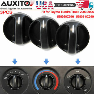 Fit For Toyota Tundra Truck 2000 06 Control Knobs Dials Heater A C Fan Set Of 3