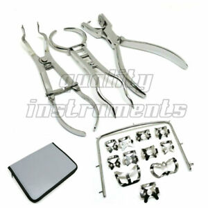 Rubber Dam Kit Of 15 Ainsworth Brewer Ivory Forceps Frame Dental Instruments