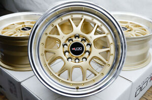 15x8 Gold Wheels Honda Civic Si Type R Accord Toyota Corolla Rims 5x100 5x114 3