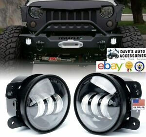 2pc 4 Led Fog Lights Round Driving Lamp Fit s Jeep Wrangler Tj jk jku 1997 2018