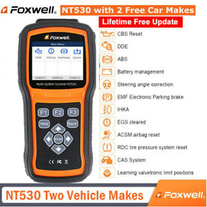 Foxwell Nt530 Obd2 Code Reader Scanner With 2 Free Car Software Abs Srs Dpfreset