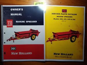 New Holland 331 Manure Spreader Owner s Operator s Manual 3 63 Parts 1 61