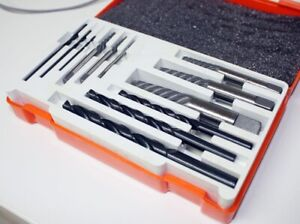 12pc Rigid Screw Extractor Set Easy Out Removal Broke Bolts Screws Drill Bits