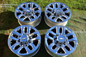 18 Chevy Silverado 2500 3500 Oem Wheels Gmc Sierra Chrome 2017 2018 Ltz