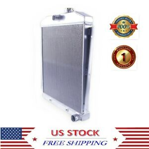 For 1947 1954 Chevrolet Chevy 3100 3600 3800 Pickup Truck 3row Aluminum Radiator