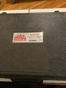 Mac Mar100 Coolant Retainer And Pressure Tester Compare To Snap On Matco