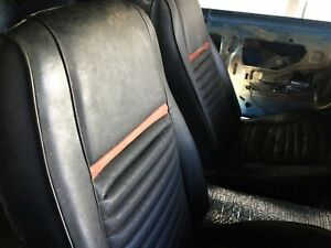 1969 Mustang Mach 1 Deluxe Seats And Fold Down Back Seat Assembly