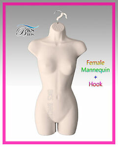 Flesh Female Mannequin Display Body Torso Dress Hanging Form Nude Women Manikin