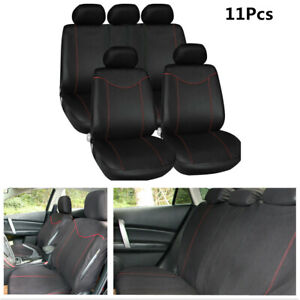 5 Seats Full Set Car Seat Covers Low Back Seat Cushion Top Wire Cloth Interior