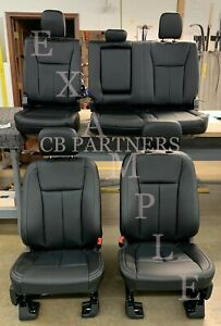 2015 2020 Oem Ford F150 Super Crew Take Off Black Leather Seat Upholstery