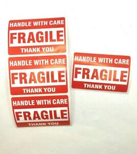 Handle With Care Fragile Stickers Red Stickers For Shipping Packages 2 x3