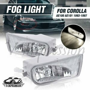Front Bumper Fog Light Driving Lamp Bulb For Toyota Corolla 93 97 Ae100 Ae101
