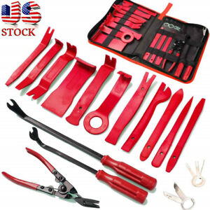19pcs Trim Removal Tool Car Panel Door Audio Puller Pry Clip Pliers Fastener Set
