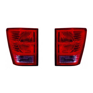 For Jeep Grand Cherokee Tail Light 2007 2010 Pair Lh And Rh Side Ch2800172
