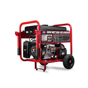 10000 watt Dual Propane And Gasoline Powered Electric Start Portable Generator W