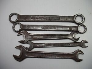 5x Vintage Set Hazet No 610 V 10 Double Open Wrench ring Spanner Germany