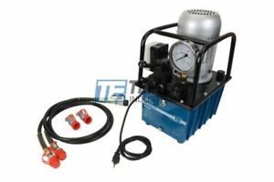 Temco Hp0004 Electric Hydraulic Pump 2 Stage Double Acting 110v 10k Psi