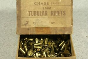 Brass Semi tubular Rivets 9 64 Diameter X 3 8 Length Under Head Quantity 800