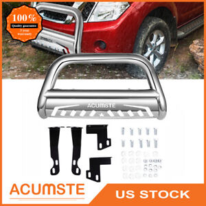 3 Steel Bull Bar For 2005 2020 Nissan Frontier Brush Grille Guard Front Bumper