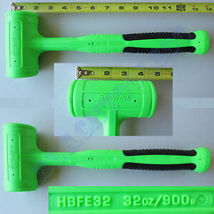 New Snap On Green Dead Blow Soft Grip Hammer 32oz Hbfe32 Made In Usa