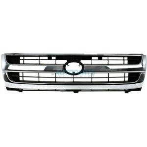 New Grille Chrome Black Fits 1997 2000 Toyota Tacoma To1200205 5310004070