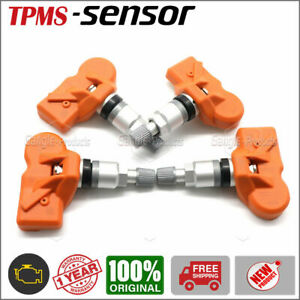 Set 4 36106856227 Oem Orange Tpms Tire Pressure Sensor For Bmw X3 X5 Z4 Mini