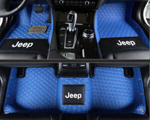 For Jeep Compass Wrangler Patriot Cherokee Commander Renegade Custom Floor Mats