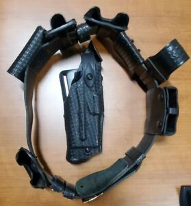 Safariland Glock 17 22 Duty Belt Basketweave Belt Size 34 36 With All Pouches