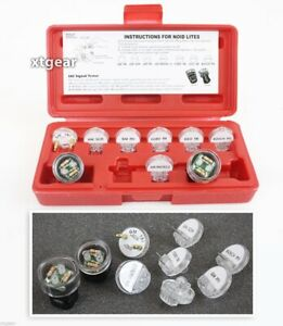 9 Pc Electronic Fuel Injection And Signal Noid Lite Tester Light Test Set New
