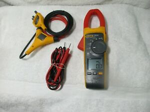 Fluke 376 Fc True Rms Ac dc Clamp Meter Iflex Flex Cable With Leads 376fc