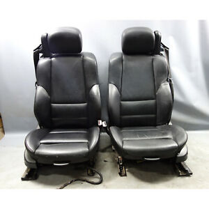 2001 2006 Bmw E46 M3 M Convertible Front Sports Seat Pair Black Leather Oem