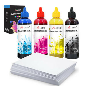 Refill Dye Sublimation Ink For Epson With 110 Sheets Sublimation Paper 8 5x11