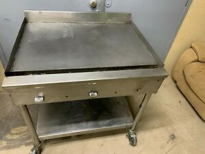 Commercial 36 Griddle 3 Burners 1 Thick Steel Cooking Surface