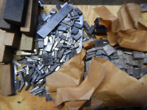 Pile Of Miscellaneous Printing Print Press Type Letters Spacers Parts And Pieces