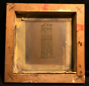 Vintage Silk Screen Frame Large Clock Tower For Screen Printing Wood Frame