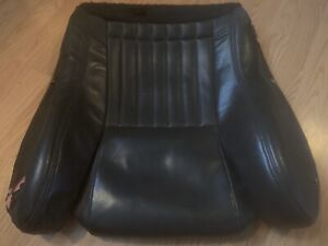 93 96 Pontiac Firebird Trans Am Ws6 Ebony Black Lower Seat Cover Leather