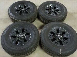 2020 Toyota Tacoma 16x7 Factory Wheels And Goodyear Wrangler 265 70r16 Tires