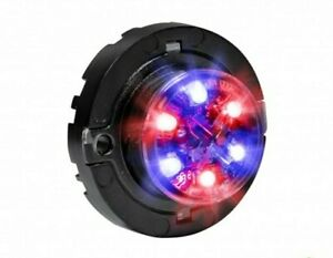 Emergency Vehicle Led Hideaway Surface Mount Strobe Warning Light Blue Red