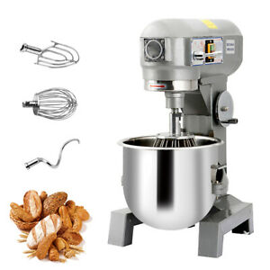 Three Speed Commercial Dough Food Mixer Gear Driven Bakery Blender 15qt 580w