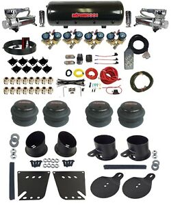Complete 1 2 Fast Valve Air Ride Suspension Kit 8 Gal Tank 1958 64 Chevy Cars