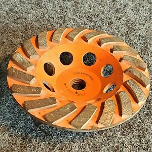Orange 5 Concrete Grinding Cup Wheels Diamond
