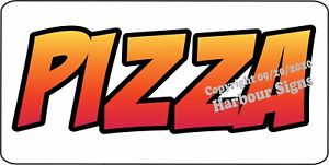 Pizza Decal choose Size Concession Food Truck Vinyl Signs Sticker
