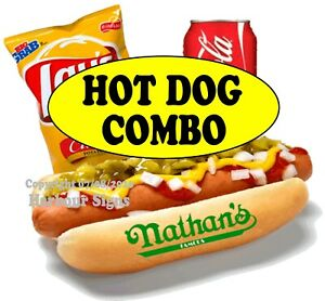 Hot Dog Combo Decal choose Your Size Chips Soda Food Truck Concession Sticker