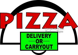 choose Your Size Pizza Carryout Delivery Decal Food Truck Concession Sticker