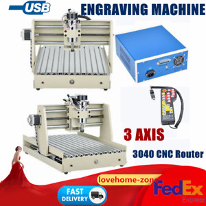 Usb 3 Axis 3040 Cnc Router Engraver Woodworking Milling Machine 400w Motor Rc
