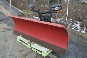 90 Boss Model Rt3 Straight Blade Snow Plow Attachment Used With Lights