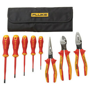 Fluke Ikst7 8pc Insulated Plier Screwdriver Hand Tool Kit